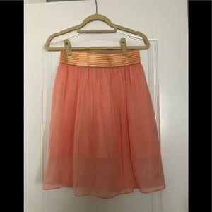 Custom made Italian silk skirt